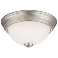 Minka-Lavery Brushed Nickel Glass Flush Mounts
