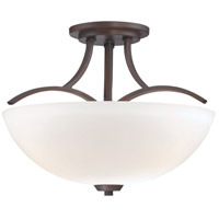 Overland Park 3 Light 17 inch Vintage Bronze Semi Flush Mount Ceiling Light