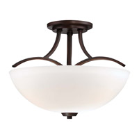 Minka-Lavery Overland Park 3 Light Semi-Flush Mount in Vintage Bronze 4962-284