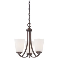 Overland Park 3 Light 16 inch Vintage Bronze Mini Chandelier Ceiling Light