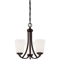 Minka-Lavery Overland Park 3 Light Mini Chandelier in Vintage Bronze 4963-284