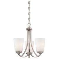 Minka-Lavery 4963-84 Overland Park 3 Light 16 inch Brushed Nickel Mini Chandelier Ceiling Light