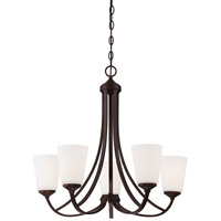 Minka-Lavery Overland Park 5 Light Chandelier in Vintage Bronze 4965-284