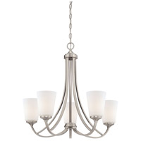 Overland Park 5 Light 26 inch Brushed Nickel Chandelier Ceiling Light
