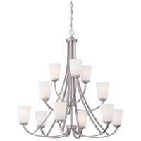 Minka Lavery Overland Park 12 Light Chandelier in Brushed Nickel 4968-84