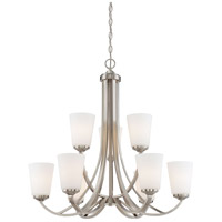 Minka-Lavery 4969-84 Overland Park 9 Light 30 inch Brushed Nickel Chandelier Ceiling Light 2 Tier