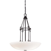 Kingsgate 3 Light 22 inch Kona Black With Gold Highlight Pendant Ceiling Light