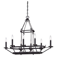Minka-Lavery Kingsgate 8 Light Island Light in Kona Black With Gold Highlight 4978-269