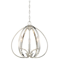 Tilbury 3 Light 17 inch Polished Nickel Pendant Ceiling Light