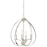 Minka-Lavery 4984-613 Tilbury 4 Light 19 inch Polished Nickel Pendant Ceiling Light