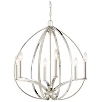 Minka-Lavery 4986-613 Tilbury 6 Light 24 inch Polished Nickel Pendant Ceiling Light