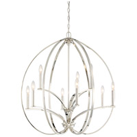 Minka-Lavery 4989-613 Tilbury 9 Light 30 inch Polished Nickel Chandelier Ceiling Light