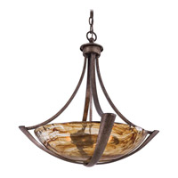 La Bohem 3 Light 25 inch Monarch Bronze Bowl Pendant Ceiling Light