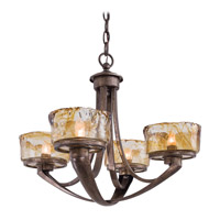 Minka-Lavery La Bohem 4 Light Chandelier in Monarch Bronze 4994-271