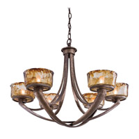 La Bohem 6 Light 30 inch Monarch Bronze Chandelier Ceiling Light