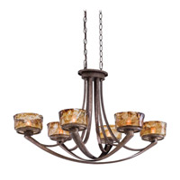 La Bohem 6 Light 36 inch Monarch Bronze Island Light Ceiling Light