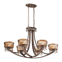 Minka-Lavery La Bohem 6 Light Island Light in Monarch Bronze 4996-271