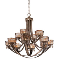 Minka-Lavery La Bohem 12 Light Chandelier in Monarch Bronze 4999-271