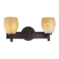 Minka-Lavery 5112-617 Art Glass Bath 2 Light 17 inch Bronze Bath Light Wall Light