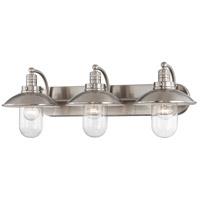 Minka-Lavery 5133-84 Downtown Edison 3 Light 29 inch Brushed Nickel Bath Bar Wall Light