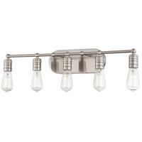 Minka-Lavery 5136-84 Downtown Edison 5 Light 28 inch Brushed Nickel Bath Bar Wall Light