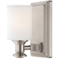 Minka-Lavery 5171-84 Harbour Point 1 Light 12 inch Brushed Nickel Bath-Bar Lite Wall Light