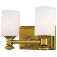 Harbour Point 2 Light 11 inch Liberty Gold Bath Bar Wall Light