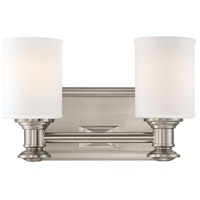 Harbour Point 2 Light 11 inch Brushed Nickel Bath Bar Wall Light