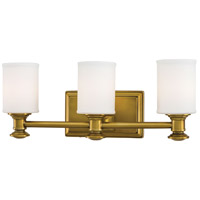 Harbour Point 3 Light 19 inch Liberty Gold Bath Bar Wall Light