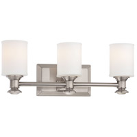 Harbour Point 3 Light 19 inch Brushed Nickel Bath Bar Wall Light
