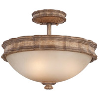Minka-Lavery Abbott Place 3 Light Semi-flush in Classic Oak Patina 5208-290 photo thumbnail