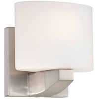 Modern Craftsman 1 Light 6 inch Brushed Nickel Bath Bar Wall Light