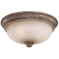 Regents Row 2 Light Regents Patina Flush Mount Ceiling Light