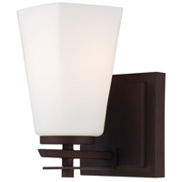 Zacara 1 Light 6 inch Artistic Bronze Bath Wall Light