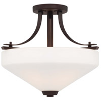 Minka-Lavery Zacara 3 Light Semi-flush in Artistic Bronze 5328-577