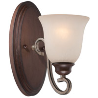 Gwendolyn Place 1 Light 5 inch Dark Rubbed Sienna/Aged Silver Bath Bar Wall Light