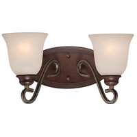 Gwendolyn Place 2 Light 15 inch Dark Rubbed Sienna/Aged Silver Bath Bar Wall Light