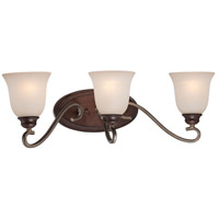 Gwendolyn Place 3 Light 24 inch Dark Rubbed Sienna/Aged Silver Bath Bar Wall Light