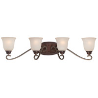 Gwendolyn Place 4 Light 33 inch Dark Rubbed Sienna/Aged Silver Bath Bar Wall Light