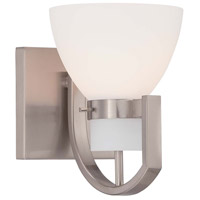 Minka Lavery Hudson Bay 1 Light Bath Light in Brushed Nickel 5381-84