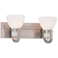 Minka Lavery Hudson Bay 2 Light Bath Light in Brushed Nickel 5382-84