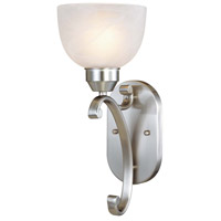 Paradox 1 Light 6 inch Brushed Nickel Bath Wall Light
