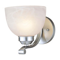 Paradox 1 Light 7 inch Brushed Nickel Sconce Wall Light in GU24