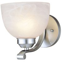 Paradox 1 Light 7 inch Brushed Nickel Bath Wall Light in Incandescent