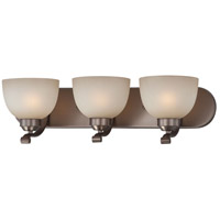 Paradox 3 Light 24 inch Harvard Court Bronze Plated Bath Bar Wall Light