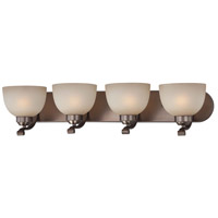 Paradox 4 Light 30 inch Harvard Court Bronze Plated Bath Bar Wall Light