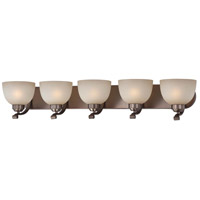 Paradox 5 Light 38 inch Harvard Court Bronze Plated Bath Bar Wall Light