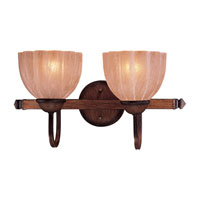 Minka-Lavery Saldia 2 Light Bath in Belcaro Walnut 5512-126