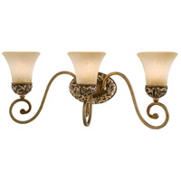 Minka-Lavery 5553-477 Salon Grand 3 Light 24 inch Florence Patina Bath Bar Wall Light