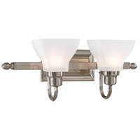 Mission Ridge 2 Light 20 inch Brushed Nickel Bath Bar Wall Light